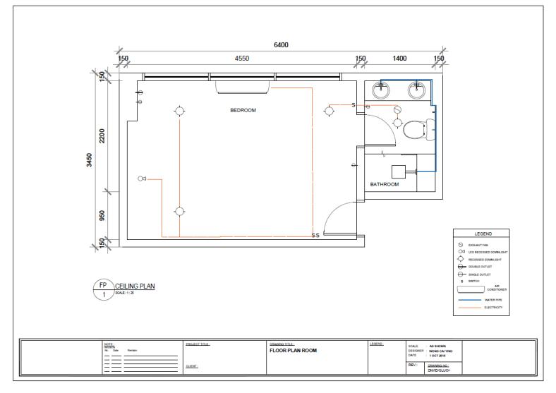 a3 ceiling plan