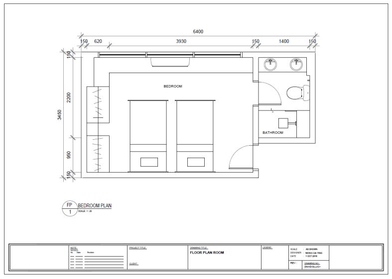a3 furniture plan